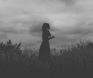 black, dark, and moody image