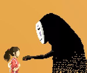 anime, pixel, and chihiro image