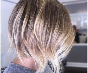 blonde, grey, and short image
