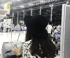 airport, bangkok, and coffee image