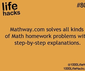 math, life hacks, and problem image