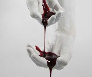 blood, hands, and white image