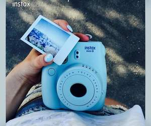 blue, mini, and instax image