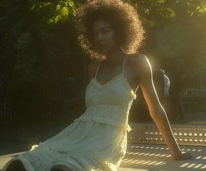 Afro, dress, and girl image