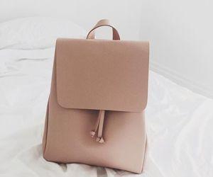 bag, backpack, and beige image