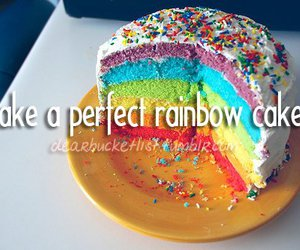 before i die, cake, and rainbow image