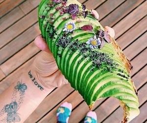 food, avocado, and toast image