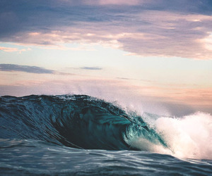 nature, ocean, and wave image