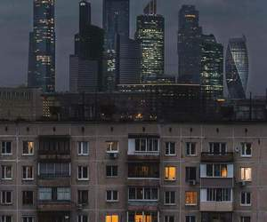 city, russia, and moscow image