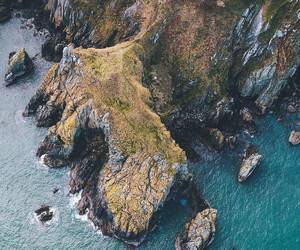 beach, cliffs, and coast image