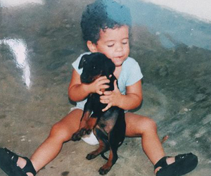 baby, dog, and perro image