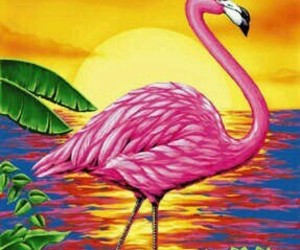 animal, pink, and sun image