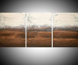 earthy, triptych, and earth tones image