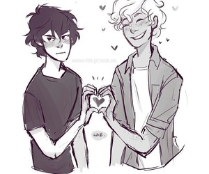 percy jackson, cute, and solangelo image