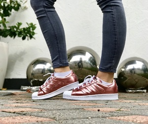 adidas, sneaker, and rosegold image