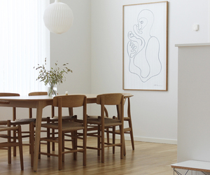 art, chair, and dining image