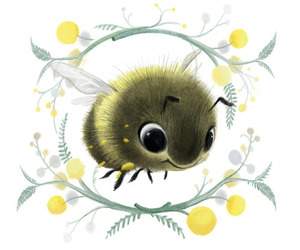 bee, illustration, and cute image