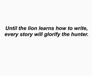 quote, hunter, and lion image