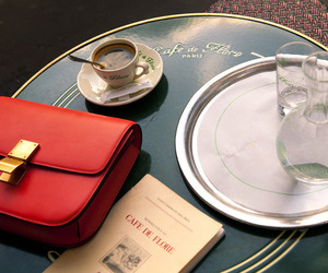 bag, coffee, and paris image