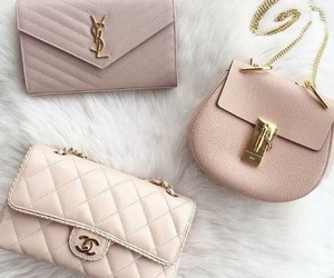 bags, chic, and gold image
