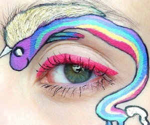 eyes, NYX, and unicorn image