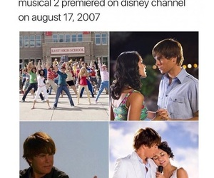 2007, disney, and high school musical image