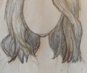 cheveux, drawing, and coiffure image