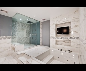bathroom, marble, and rich image