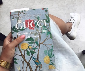 book, gucci, and shoes image