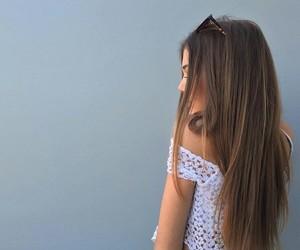 brown hair, brunette, and dark hair image