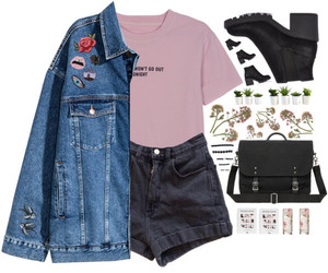 casual, clothes, and denim jacket image