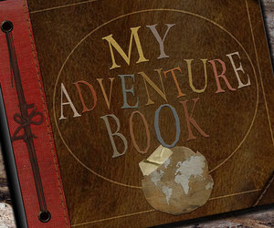 adventure, book, and up image
