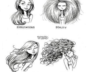 hair, meme, and reality image