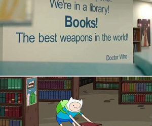 book, adventure time, and funny image