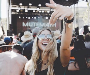 festival, girl, and music image