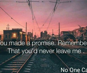 alone, leave, and promesse image
