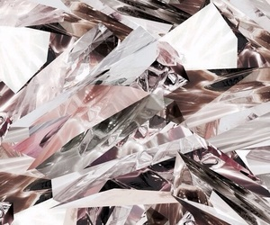 crystals, faded, and pink image