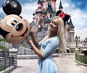 blondie, mickey mouse, and blue dress image