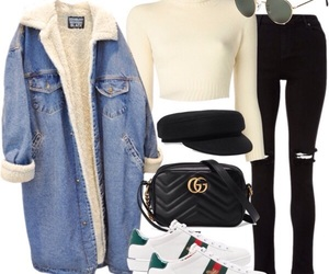 coat, Polyvore, and street style image