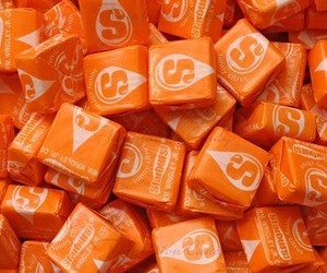 orange, candy, and sweet image