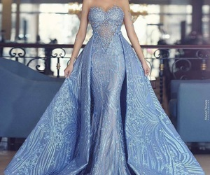 dress, blue, and beauty image