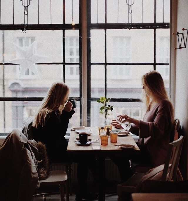 coffee, girls, and friends image
