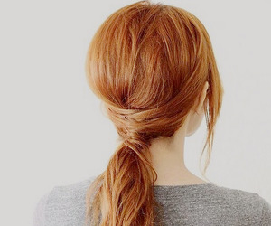 hair, ginger, and ponytail image