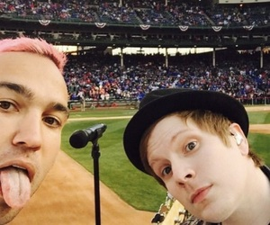 fall out boy, pete wentz, and patrick stump image