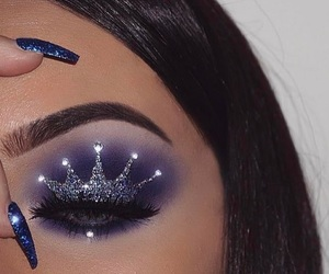 makeup, nails, and crown image