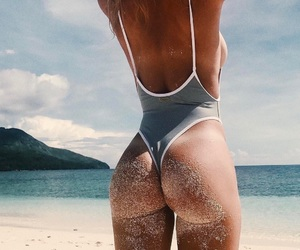beach, booty, and hot girl image