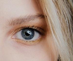 eyes, blonde, and blue eyes image