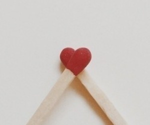 heart, red, and match image