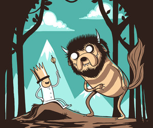 adventure time, where the wild things are, and cartoon image