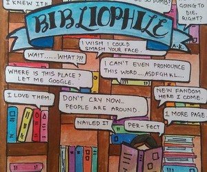 art, artsy, and bibliophile image